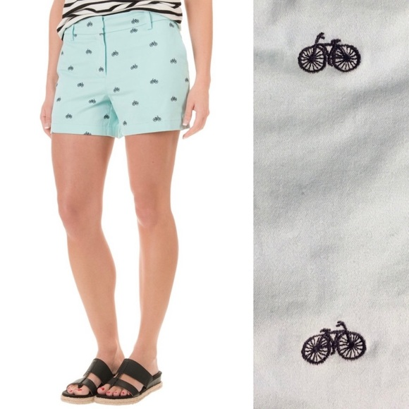 NWT Cambridge Dry Goods Embroidered Bicycle Shorts